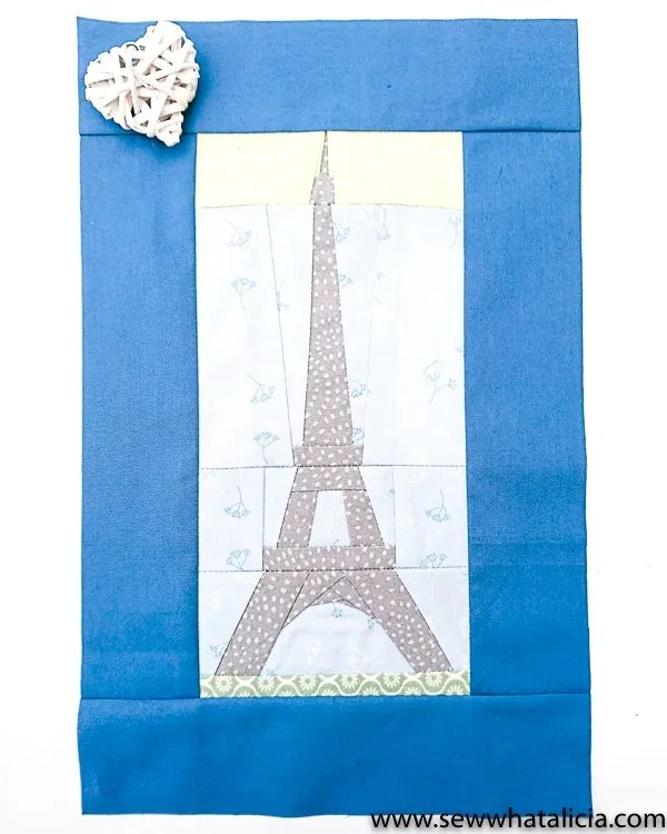 Tutorial and pattern: Eiffel tower paper piecing