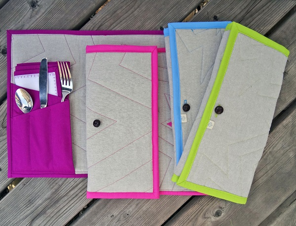Tutorial: Fold-n-go pocket placemats