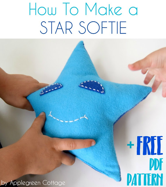 Tutorial and pattern: Star softie that kids can make
