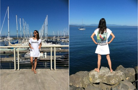 Tutorial: Trendy tunic from an oversized t-shirt