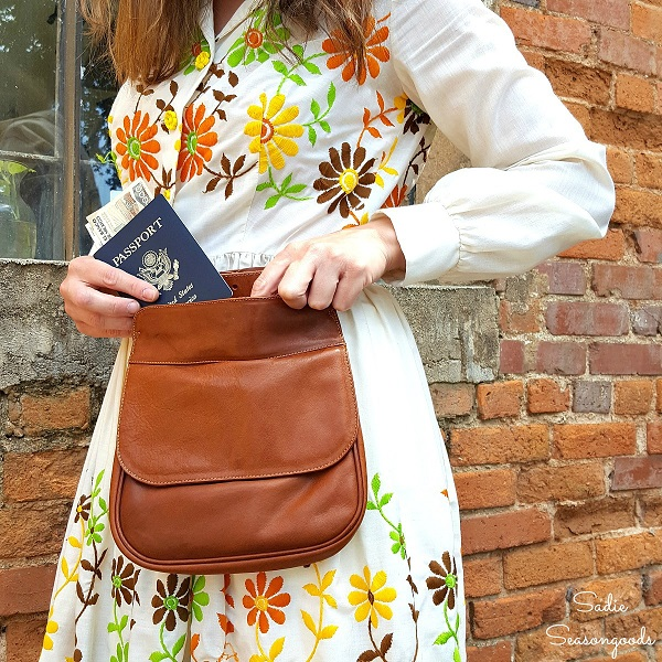 Tutorial: Hands free hip bag from a thrift store purse