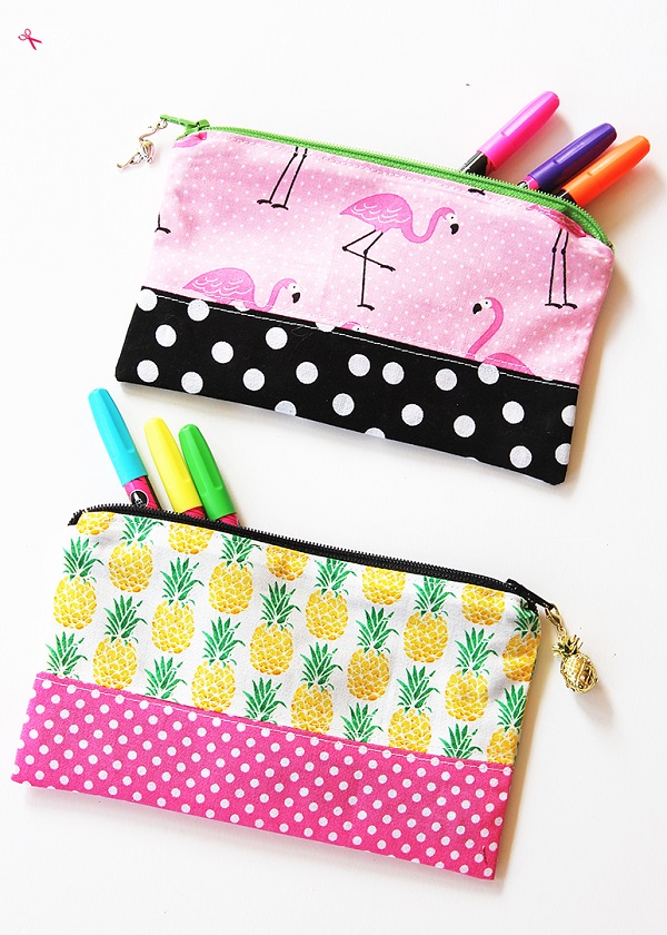 Tutorial: Simple zipper pencil pouch