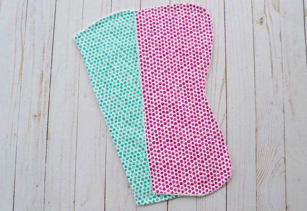 Tutorial and pattern: Half contour burp cloth