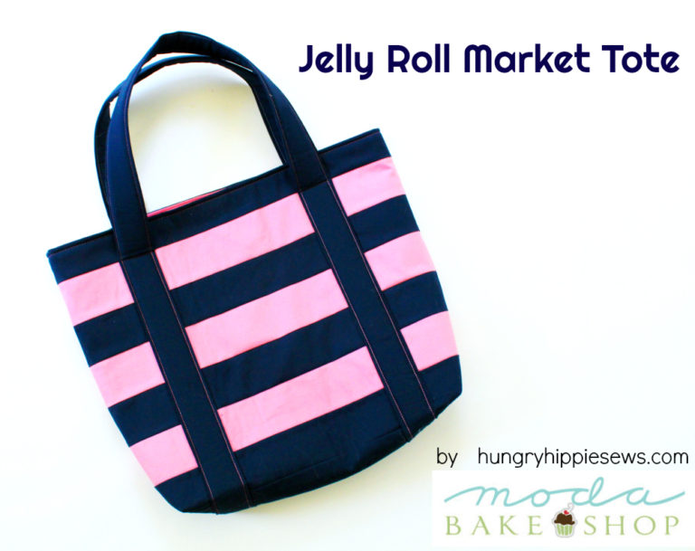 Tutorial: Jelly roll market tote bag
