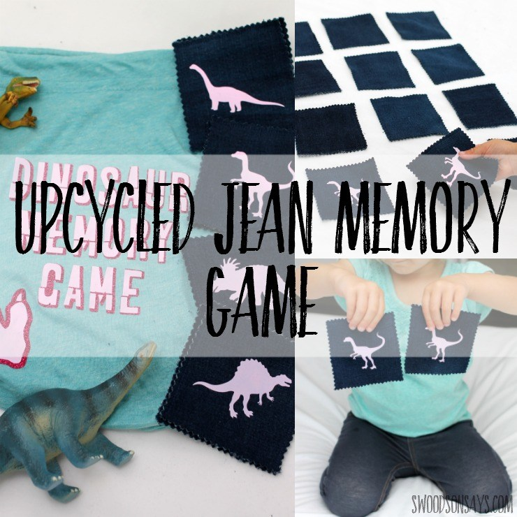 Tutorial: Matching game from upcycled denim and heat transfer vinyl