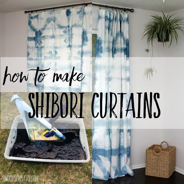 Tutorial: Shibori indigo dyed curtains