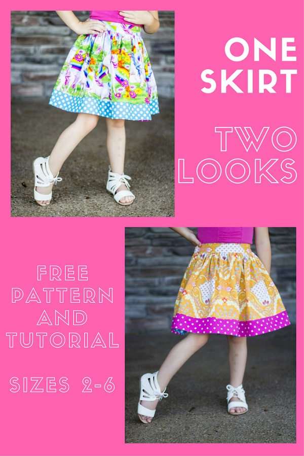 Tutorial: Little girl's reversible twirly skirt