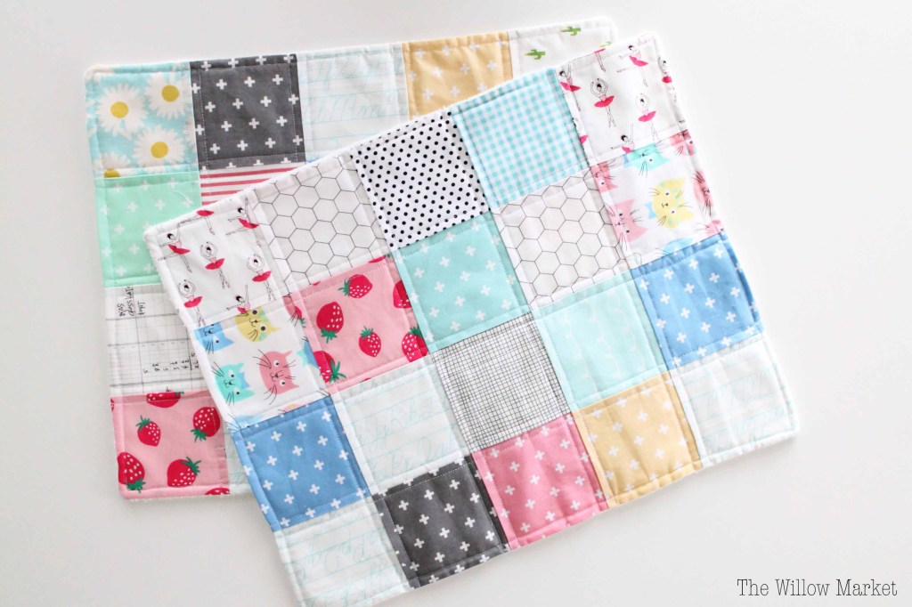 Tutorial: Patchwork baby burp cloth