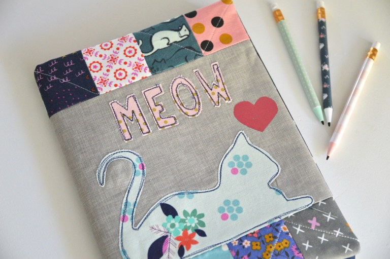 Tutorial: Meow kitty composition book cover