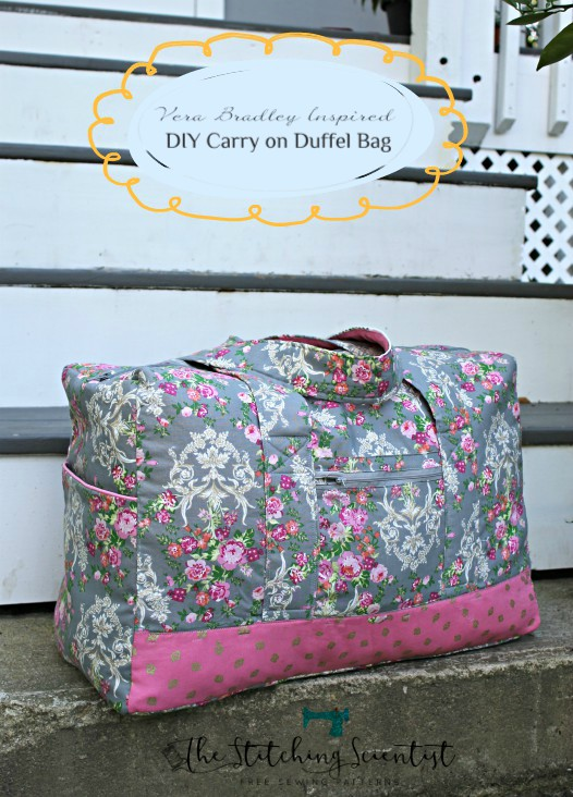Tutorial and pattern Carry on duffel bag