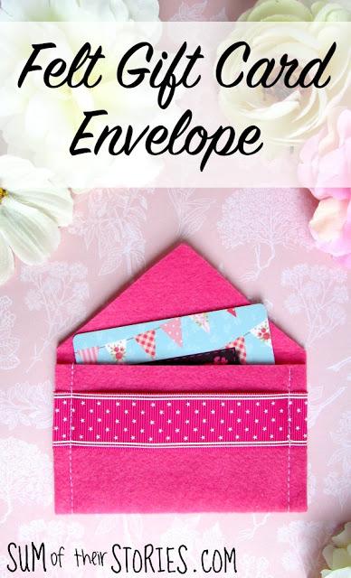 Tutorial Easy felt gift card envelope