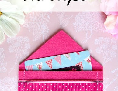 Tutorial: Easy felt gift card envelope