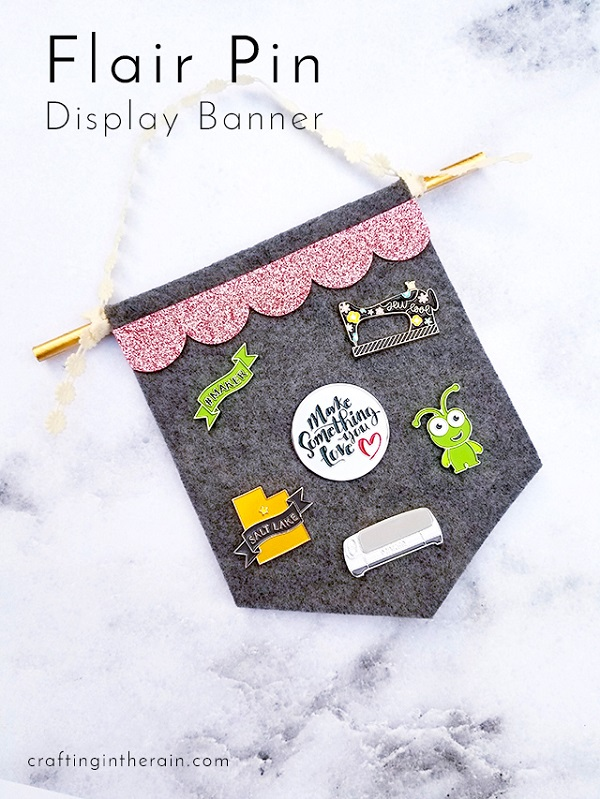 Tutorial: No-sew felt flair pin banner