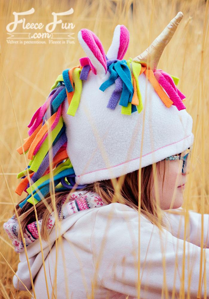 Tutorial and pattern: Fleece unicorn hat – Sewing