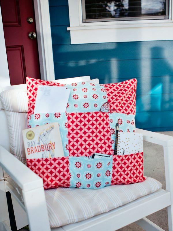 Tutorial Hidden Pockets Nine Patch Pillow Sewing