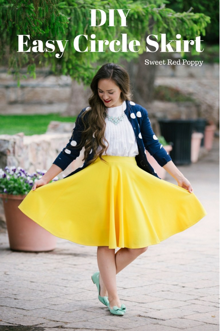 Tutorial Easy Knit Circle Skirt Sewing