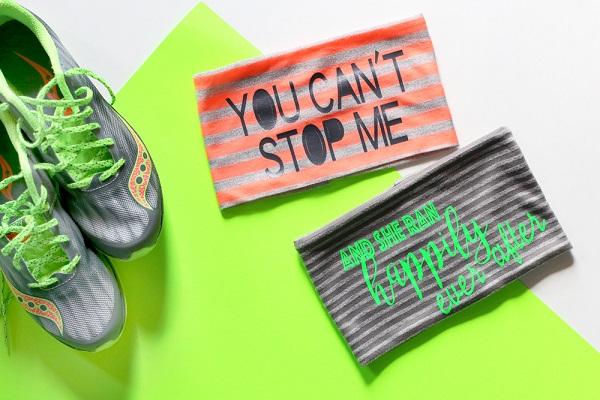 Tutorial: Motivational running headbands