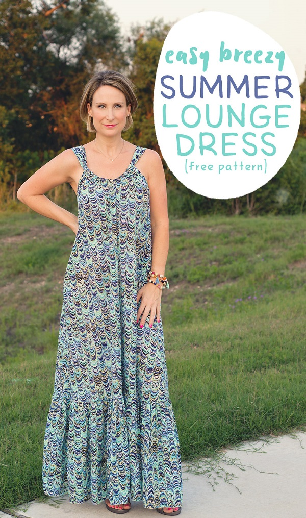 Tutorial and pattern: Easy Breezy Summer Lounge Dress