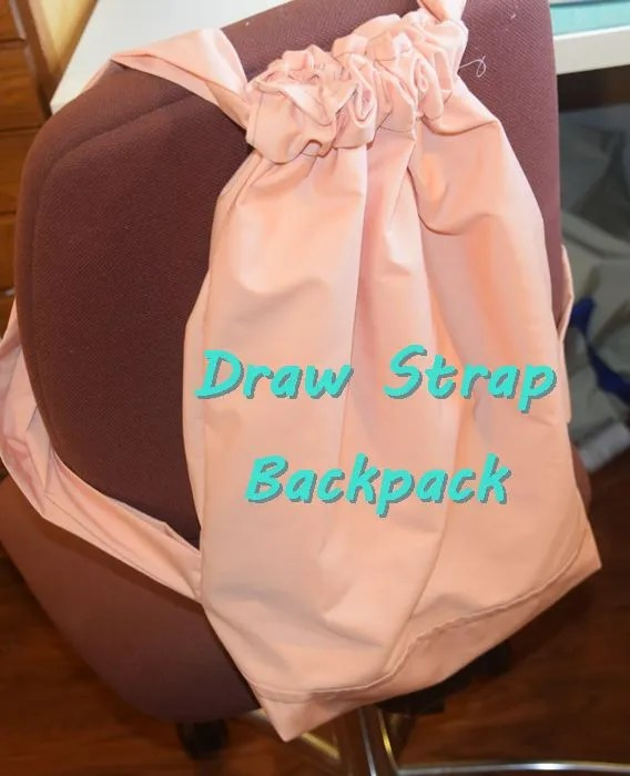 Tutorial: Sew a draw strap backpack