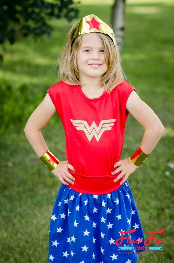 Tutorial: Wonder Woman costume for girls