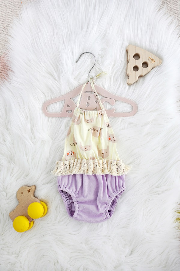 Tutorial: Easy baby halter romper made from a diaper cover