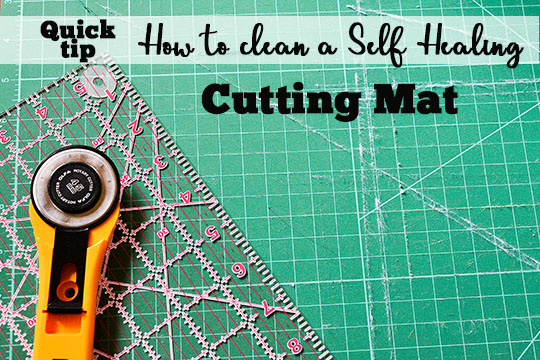 Tutorial: How to clean your rotary cutting mat