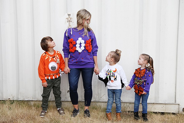 Tutorial: DIY Ugly Halloween Sweaters