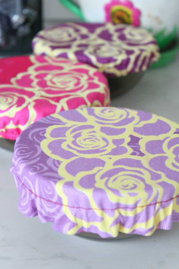 Tutorial: Reusable fabric bowl covers