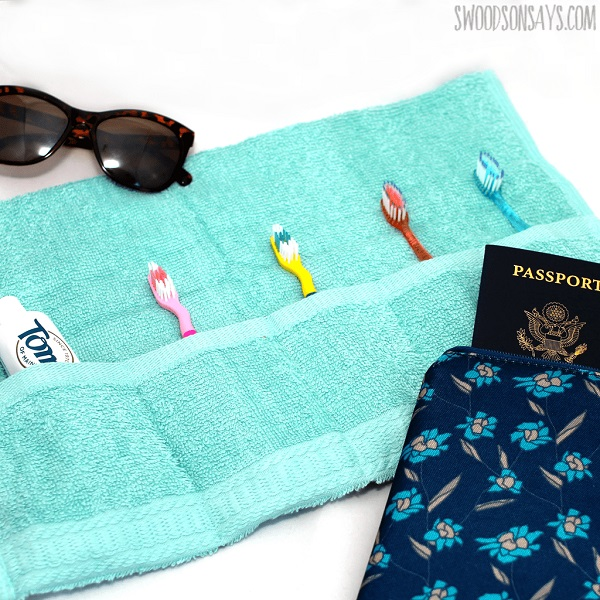 Tutorial: Sew a travel toothbrush holder from a washcloth