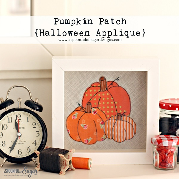 Tutorial and pattern: Pumpkin patch applique design