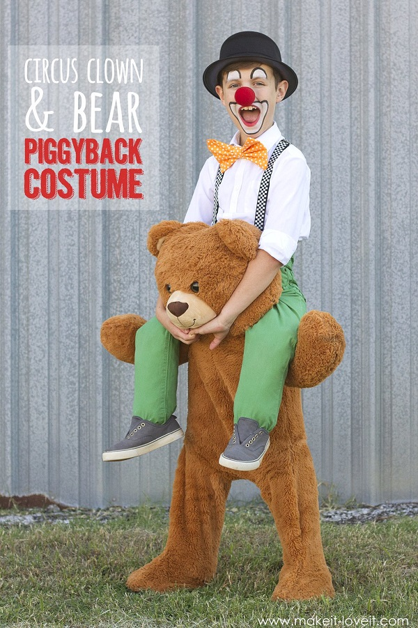 Tutorial: DIY piggyback circus clown and bear