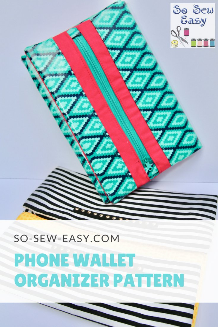 Tutorial and pattern: Phone wallet organizer