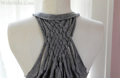 Tutorial: Woven back t-shirt refashion