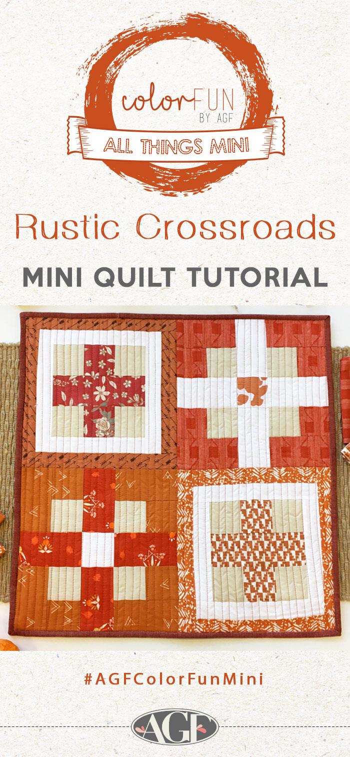 Tutorial: Rustic Crossroads Mini Quilt