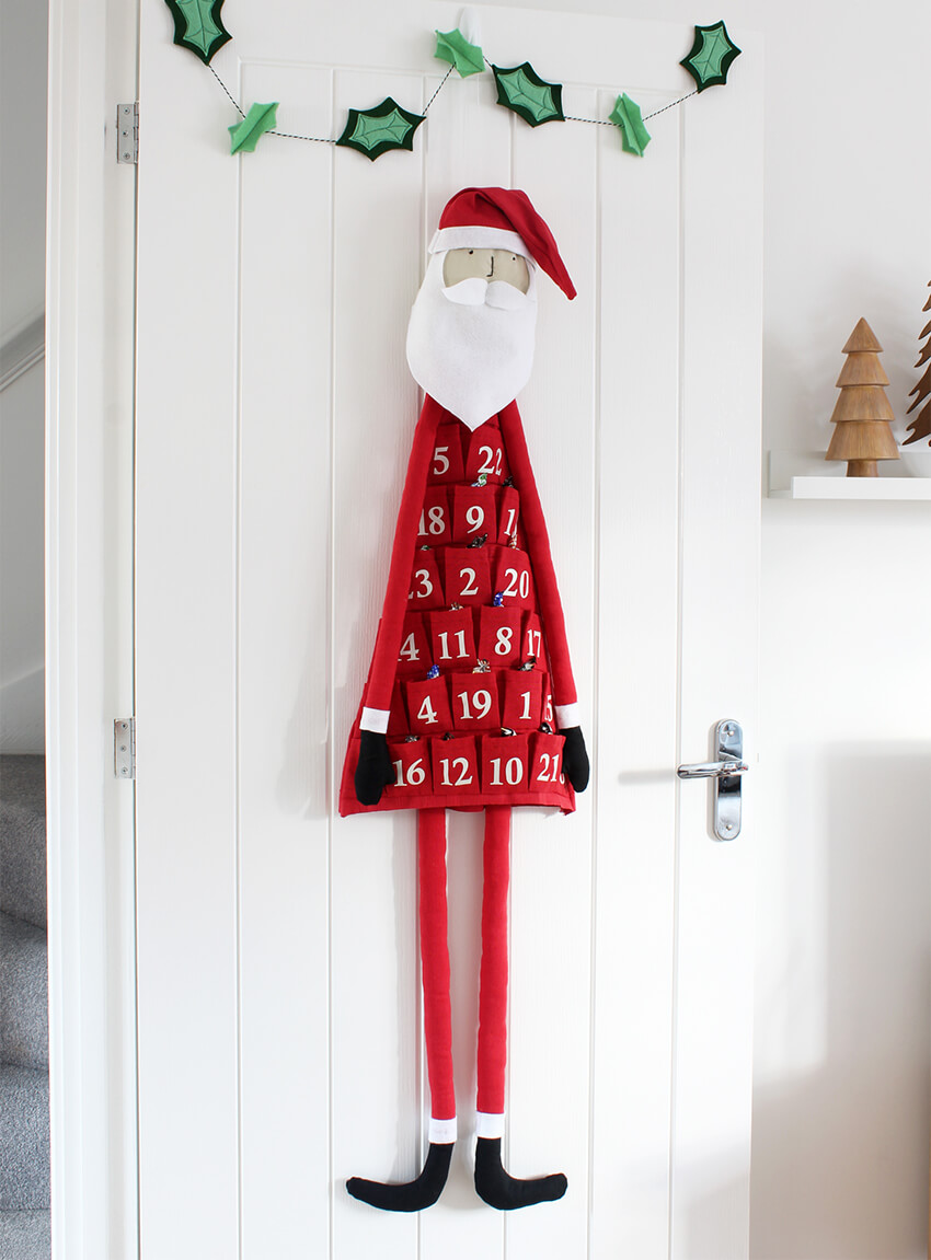 Tutorial: Fabric santa Advent calendar