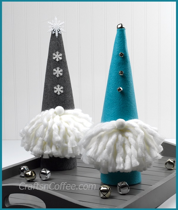 Tutorial: No-sew felt Christmas gnomes