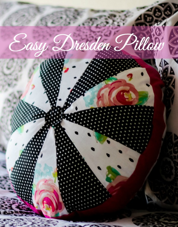 Tutorial: Round Dresden patchwork pillow
