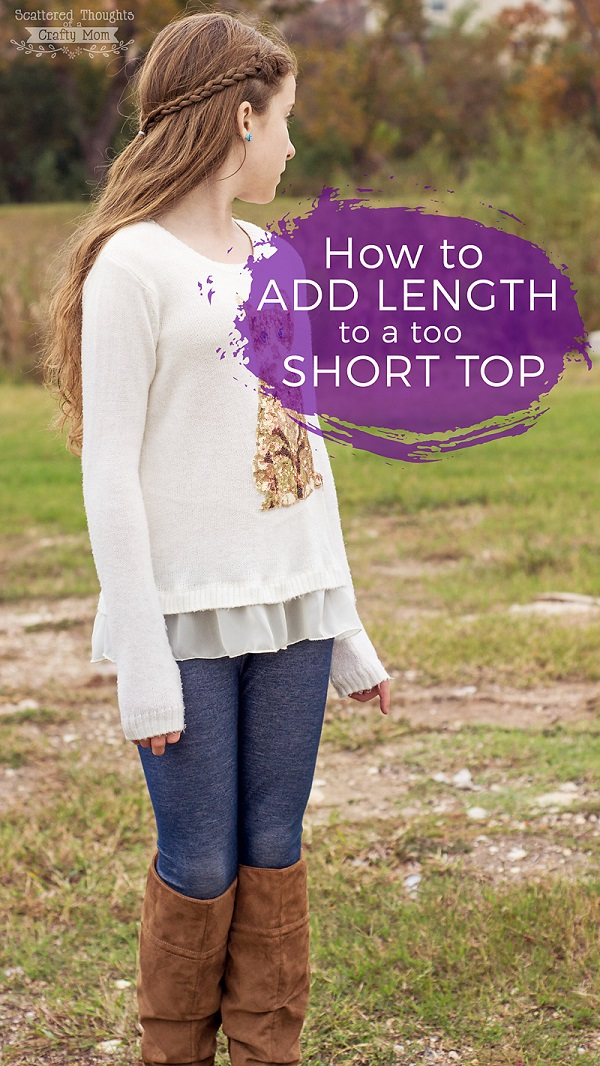 Tutorial: Fix a too-short shirt with a faux layer hem