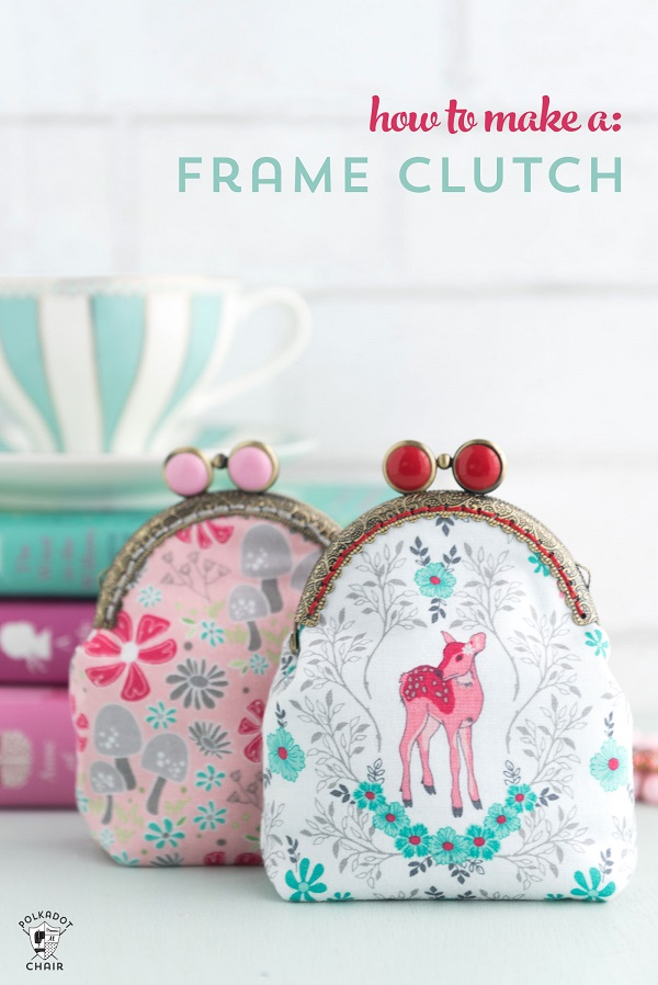 Tutorial: Metal frame purse with a sew-in frame