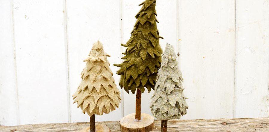 Tutorial: Felted sweater Christmas tree