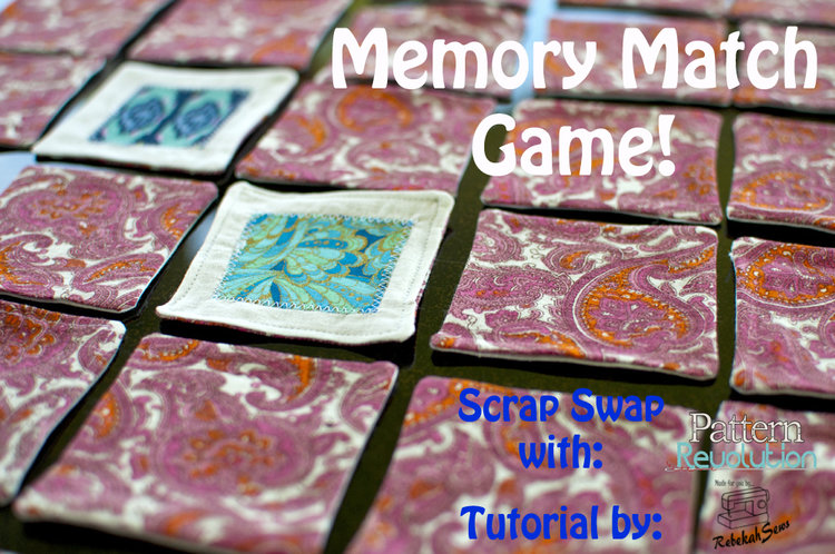 Tutorial: Scrap fabric memory matching game