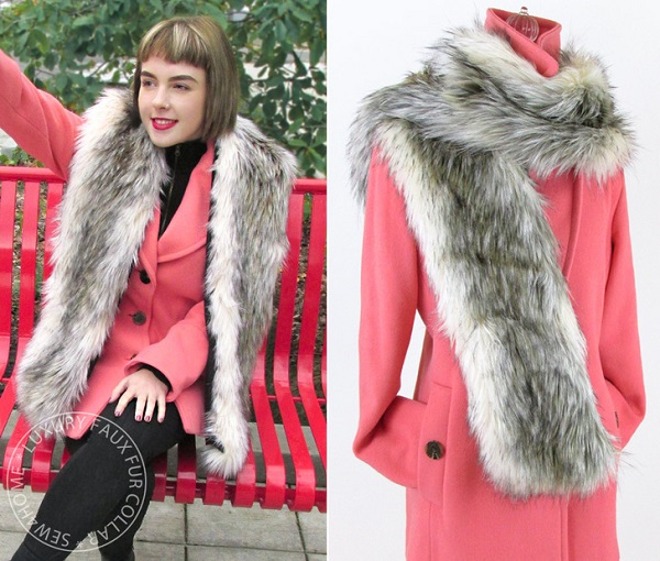 Tutorial: Faux fur collar wrap