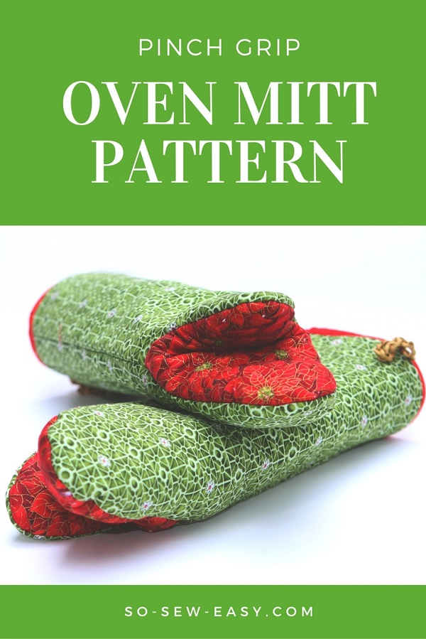 Tutorial And Pattern Pinch Grip Oven Mitt Sewing