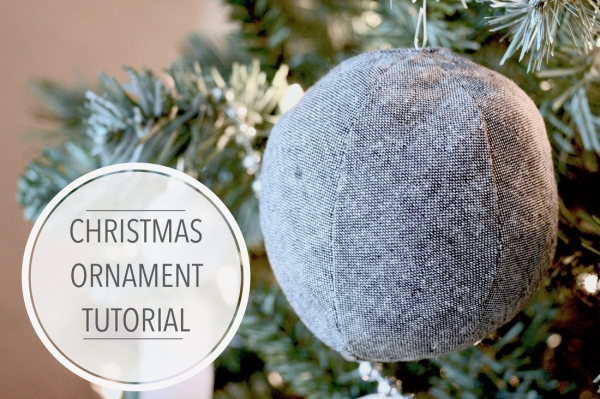 Tutorial: Soft fabric ball Christmas tree ornament