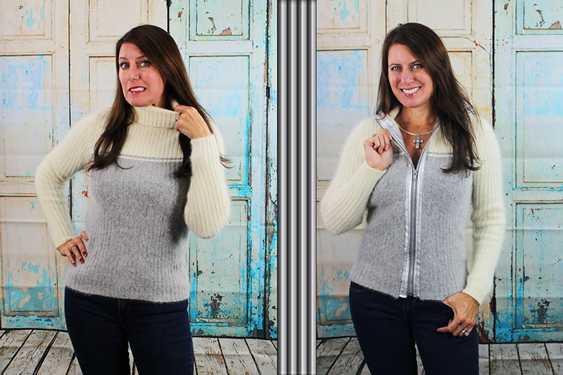 Tutorial: Sweater jacket from a pullover sweater