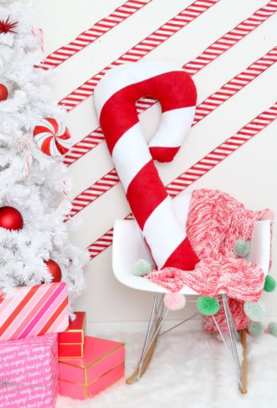 Tutorial: Giant candy cane pillow