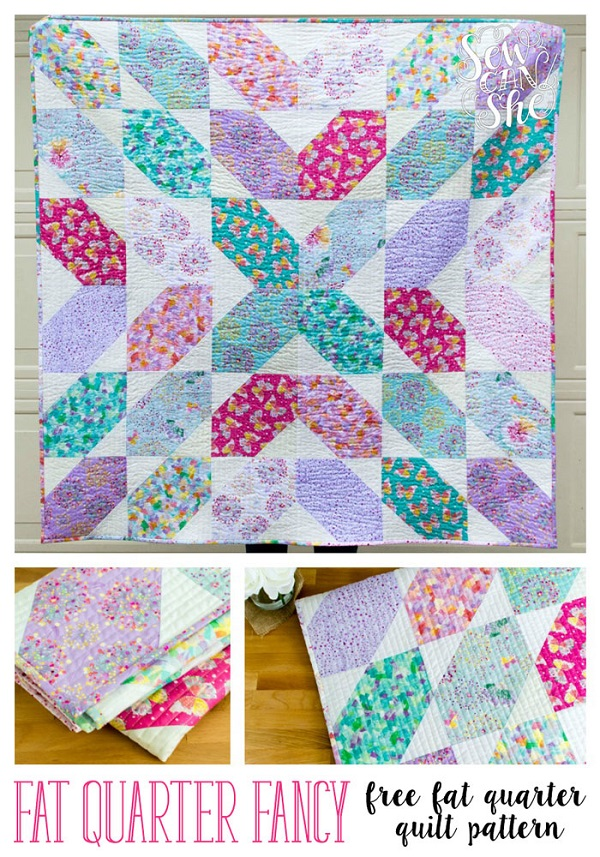Tutorial: Fat Quarter Fancy quilt