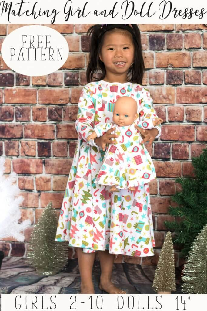 Tutorial and pattern: Matching dresses for a little girl and her ...