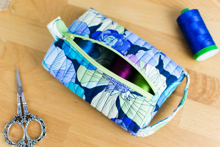 Tutorial: Quilted pillbox pouch