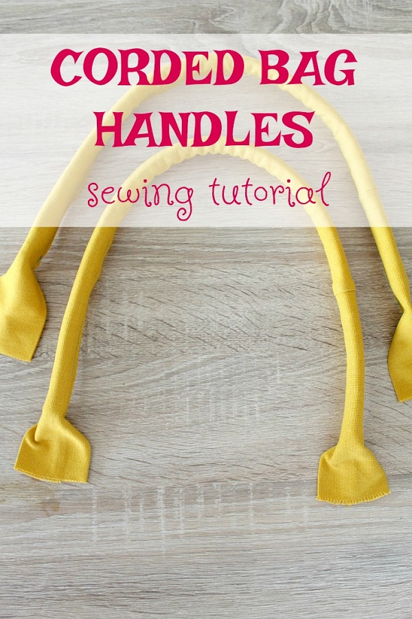 Tutorial: DIY corded bag handles